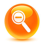 Zoom out icon glassy orange round button stock illustration