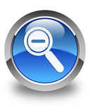 Zoom out icon glossy blue round button Royalty Free Stock Image