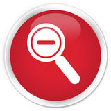 Zoom out icon premium red round button Stock Photography