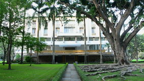 Zoom Out - Independence Palace Back Yard - Ho Chi Minh City Vietnam. Former President Ngo Dinh Diem Residence during the Vietnam War stock video