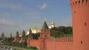 Zoom out from Kremlin Moscow stock footage