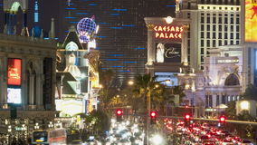 Zoom out of Las Vegas Strip - Time Lapse. Filmed with a professional camera stock footage