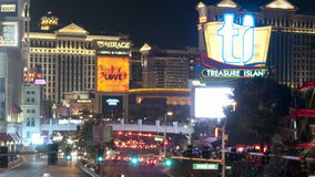 Zoom out of Las Vegas Strip - Time Lapse. Filmed with a professional camera.   Filmed with a professional camera stock video
