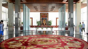 Zoom Out  - Lobby Area - Independence Palace - Ho Chi Minh City (Saigon) Vietnam. Former President Ngo Dinh Diem Residence during the Vietnam War stock video