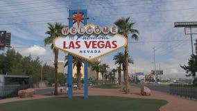 Zoom out od Las Vegas znaka zdjęcie wideo