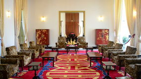 Zoom Out - Presidents Reception Salon - Independence Palace - Ho Chi Minh City. Former President Ngo Dinh Diem Residence during the Vietnam War stock video footage