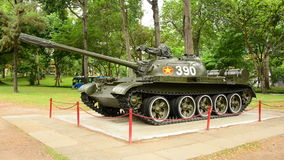 Zoom Out  - Russian Victory Tank  - Independence Palace - Ho Chi Minh City Vietnam stock video