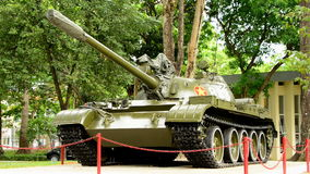 Zoom Out  - Russian Victory Tank  - Independence Palace - Ho Chi Minh City Vietnam stock footage