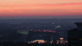 Zoom out scenic dc sunrise timelapse stock video footage