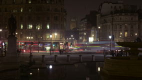 Zoom-out, time-lapse of Trafalgar Square stock footage