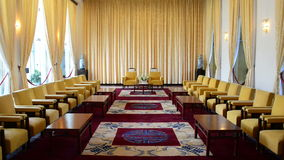 Zoom Out  - Vice Presidents Reception Salon - Independence Palace - Ho Chi Minh City. Former President Ngo Dinh Diem Residence during the Vietnam War stock video