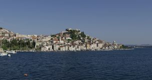 Sibenik zoom out view stock footage