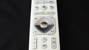 Zoom out on a white remote control 4K