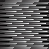 Zoom Pattern_Black. An abstract vector illustration of a 12 square repeating pattern representing motion and speed Stock Photo