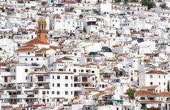 Spanish hillside town, Competa, Andalucia, Spain. royalty free stock image