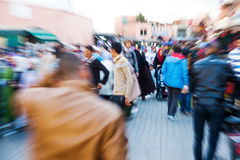 Zoom picture of arabian people in Marrakesh Royalty Free Stock Photos