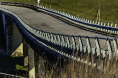 A zoom picture of a bridge Stock Image