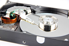 Zoom the Picture Hard drive Open the top cover off. Royalty Free Stock Images