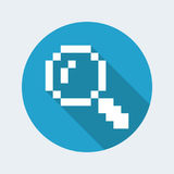 Zoom pixel computer icon Royalty Free Stock Photography