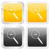 Zoom quadrado do ícone para fora ilustração do vetor