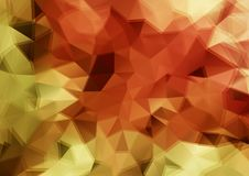 Zoom retro color triangle background Stock Image