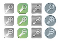 Zoom/search Icons Royalty Free Stock Images