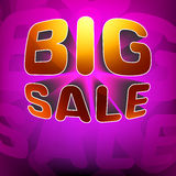 Zoom shine text Big Sale on purple. EPS 8 Royalty Free Stock Photos