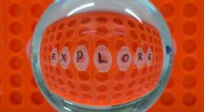 Zoom sull'esplorazione in laboratorio immagini stock