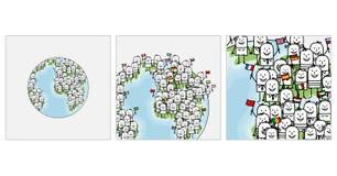 Zoom sulla gente del mondo royalty illustrazione gratis