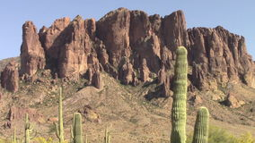 Zoom in of the Superstition Mountains, Arizona stock video