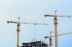 Zoom three crane Royalty Free Stock Image