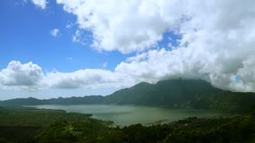 Zoom in timelapse of Lake Batur stock footage