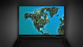 Zoom in to North America map Royalty Free Stock Images