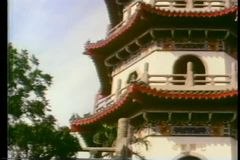 Zoom in to Shaolin temple stock video footage