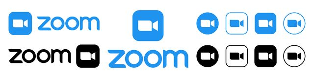 Free Zoom Video Communications. Zoom Logo. Application For Video Communications With Cloud Platform For Video And Audio Conferencing, Royalty Free Stock Image - 216608656