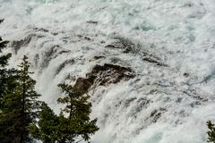 View of Bow Fall and Bow River Royalty Free Stock Photography