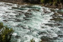 View of Bow Fall and Bow River Stock Photography