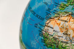 Zoom View of World Map Royalty Free Stock Images