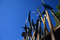 Zoom on the Weapons from the mediaeval. South of france Royalty Free Stock Photography