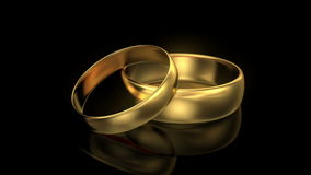 Zoom in wedding rings Royalty Free Stock Images