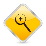 Zoom in yellow square icon Royalty Free Stock Photo