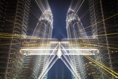Zooma för Petronas tvillingbröder Fotografering för Bildbyråer