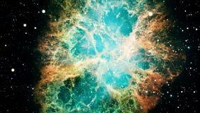 Zooma ut ur krabbanebulosan stock illustrationer