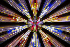 Zoombristning av målat glassfönstret arkivfoton