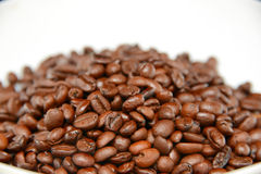 Zoomed coffee beans Stock Photography