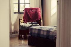 Glimpse into the Bedroom - Vintage Stock Images
