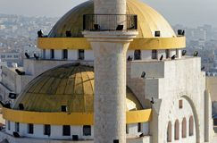 Zoomed view of the mosque of Madaba. Jordan Royalty Free Stock Images