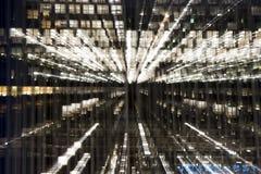 Zoomeffekt-Bürofenster Stockfotos