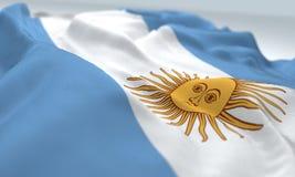 Zoomflagge von Argentinien Lizenzfreie Stockfotos