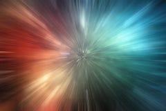 Zoomgeschwindigkeit beleuchtet Hintergrund Stockfoto